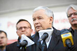 Jaros�aw Kaczy�ski w �odzi. Rocznica morderstwa w siedzibie PiS