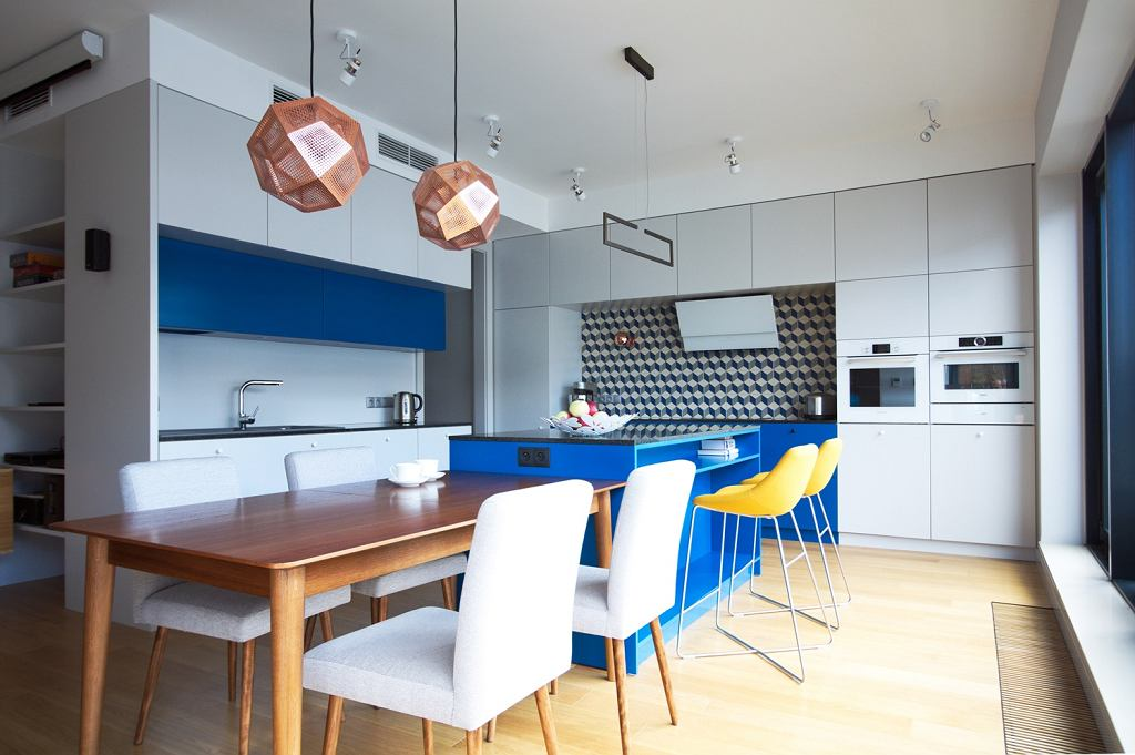 Nowoczesne mieszkanie nawiązujące do lat 60.