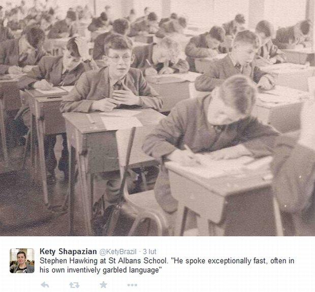 Stephen Hawking w szkole w St Albans