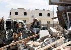 Ruiny budynk�w zbombardowanych przez Arabi� Saudyjsk�