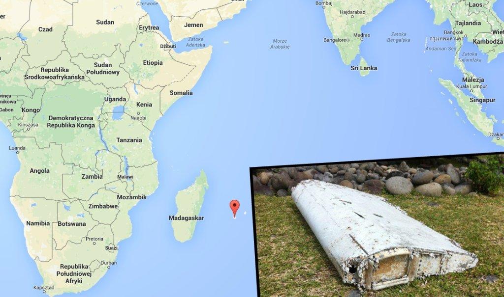 Fragment wraku znaleziony u wybrzeży wyspy Reunion