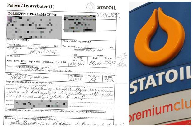Reklamacja na stacji Statoil
