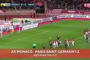 Monaco - PSG 1:2. Gol Neymara [ELEVEN SPORTS]