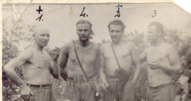 """Walenty Waśkiewicz """"Strzała"""", Stanisław Kuchcewicz """"Wiktor"""", Józef Franczak """"Lalek"""", Julian Kowalczyk """"Cichy"""""""
