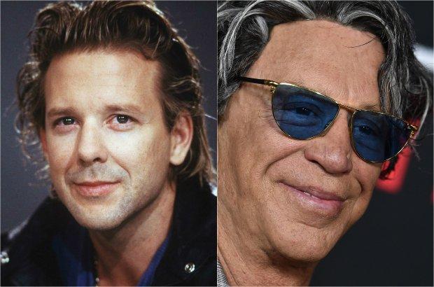 Aż trudno uwierzyć, że na tych dwóch zdjęciach jest ta sama osoba. Niestety, przez lata Mickey Rourke przeszedł jedną z najbardziej wstrząsających i przykrych metamorfoz w historii show-biznesu. Zmiany w wyglądzie aktora nie najlepiej wpłynęły też na jego karierę. Na zdj. Mickey Rourke w 1988 roku (z lewej) i w 2015 roku (z prawej).