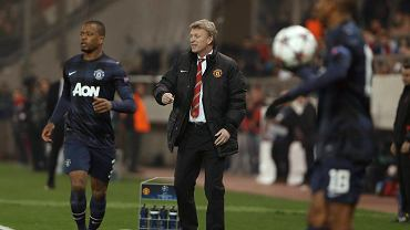 David Moyes podczas meczu Olympiakos - Manchester