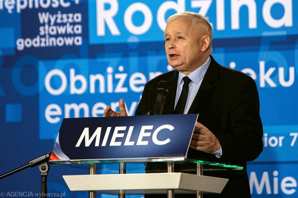 Prezes PiS Jarosław Kaczyński w Mielcu