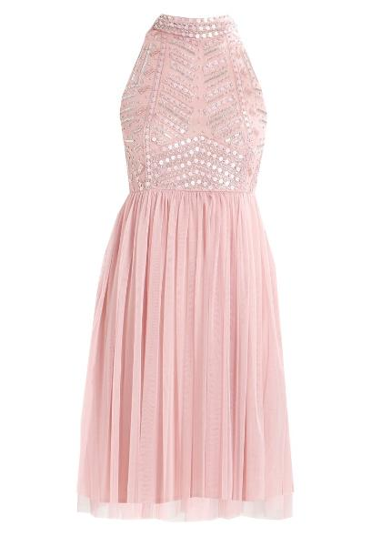 cc46781b19 Lace   Beads Petite WREN SKATER Sukienka koktajlowa pink