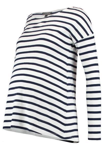 6244c4f0224754 ISABELLA OLIVER CAIA MATERNITY STRIPE Bluzka z długim rękawem navy/white