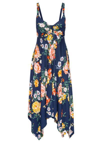 1c799753adee9 Bonprix Must have: sukienka z dżerseju z asymetrycznym dołem