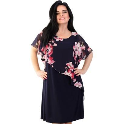 20f24891a1 Sukienka Lamar midi na spacer casualowa z okrągłym dekoltem
