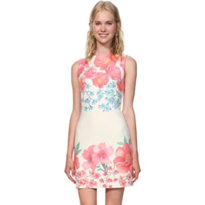 cba715fff6 Sukienka Desigual wielokolorowa dla puszystych na uczelnię