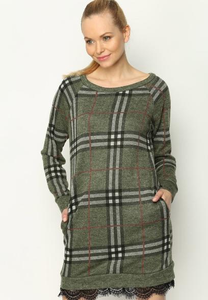 62cd3b0d89 Dzianinowe sukienki dla dojrzałych kobiet  wygodne i stylowe modele ...