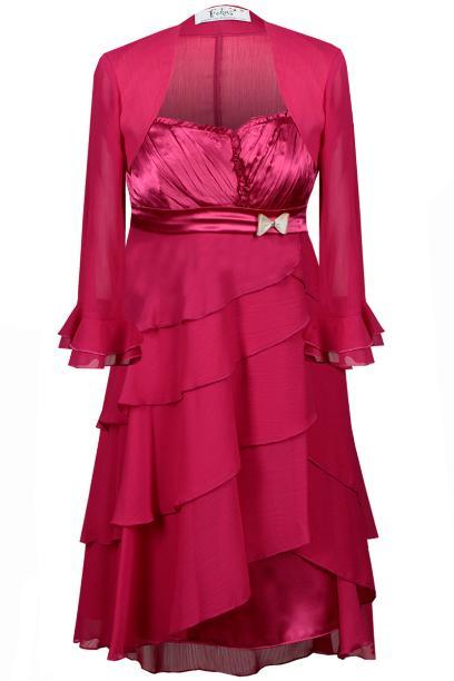 Sukienka FSU183 AMARANTOWY