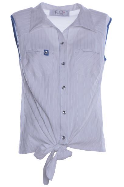 Bluzka FBZ618 BIAŁYprążki+CHABROWY