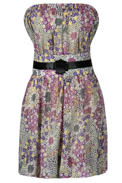 Sukienka FSU151 AMARANTOWY JASNY
