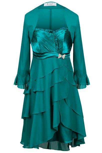 Sukienka FSU183 ZIELONY MORSKI