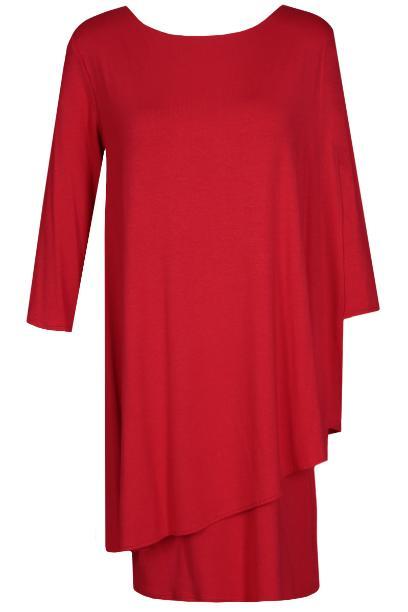 Sukienka FSU696 CZERWONY