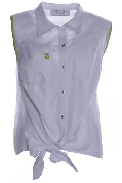 Bluzka FBZ618 BIAŁY wzór + ZIELONY