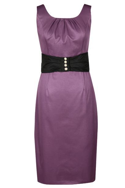 Sukienka FSU763 AMARANTOWY CIEMNY