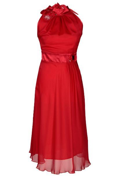 Sukienka FSU211 CZERWONY
