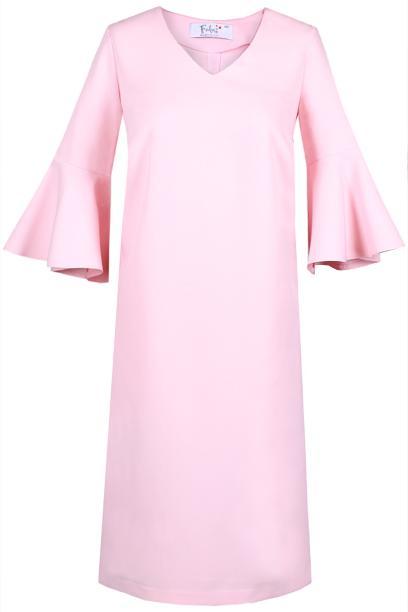 Sukienka FSU879 RÓŻOWY JASNY