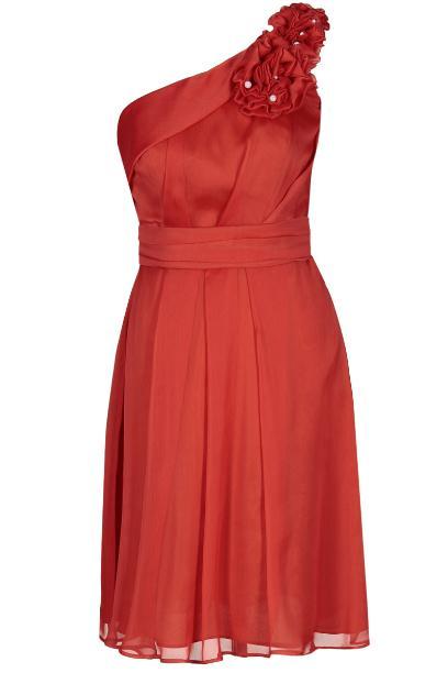 Sukienka FSU255 POMARAŃCZOWY MOCNY