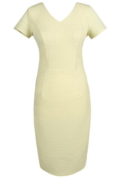 Sukienka FSU684 ŻÓŁTY JASNY