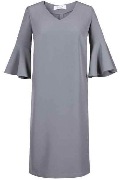 Sukienka FSU879 SZARY