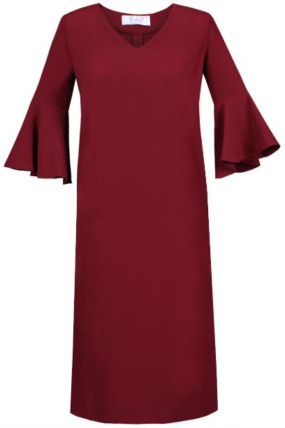 Sukienka FSU879 BORDOWY