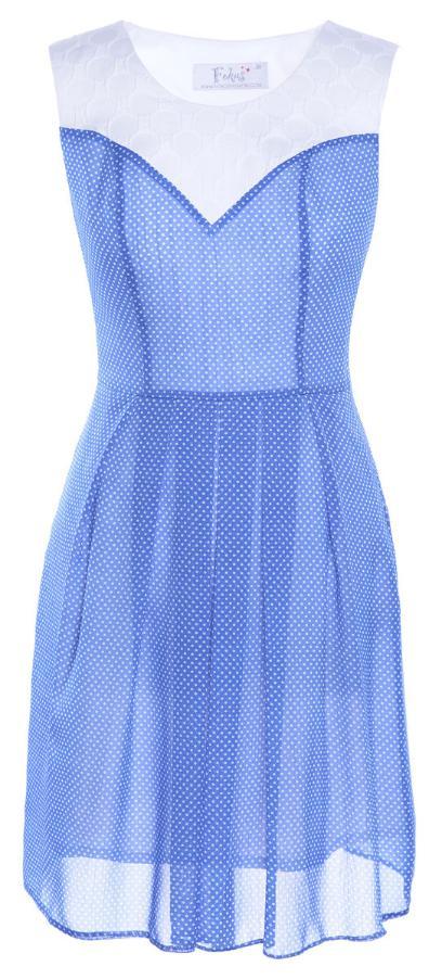 Sukienka FSU607 CHABROWY + EKRI