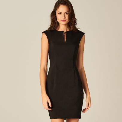 563ab000a8 Mohito - Sukienka z wycięciem przy dekolcie - Czarny