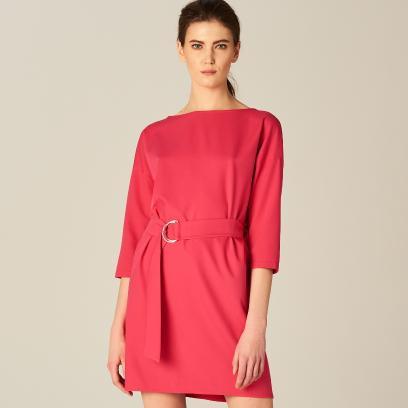 6cb32caf70 Mohito - Sukienka z wiązaniem w talii - Różowy
