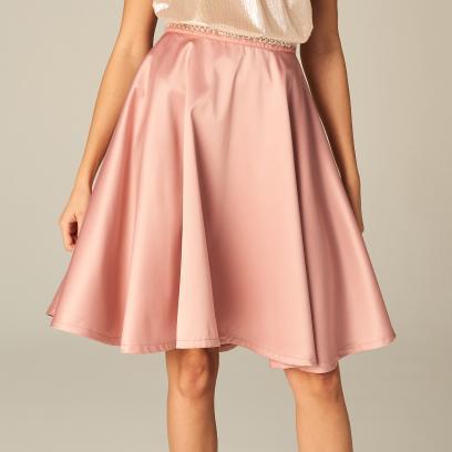 49fe31b437 Mohito - Rozkloszowana spódnica ze zdobieniem w talii celebration - Różowy
