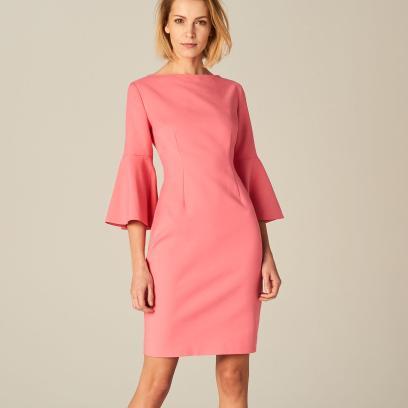 bba97ca8ea Mohito - Ołówkowa sukienka z rozkloszowanymi rękawami - Różowy