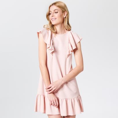 8354de55cc Mohito - Sukienka z falbanami little princess - Różowy