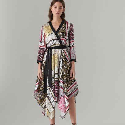 277dd63b6c Mohito - Sukienka midi z asymetrycznym dołem - Kremowy