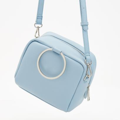 84d0352275754 Reserved - Mała torebka z regulowanym paskiem - Niebieski