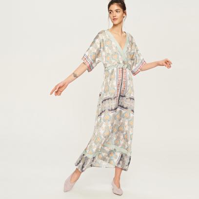 7e00ccdb32f2c Reserved - Sukienka w stylu kimono - Wielobarwn