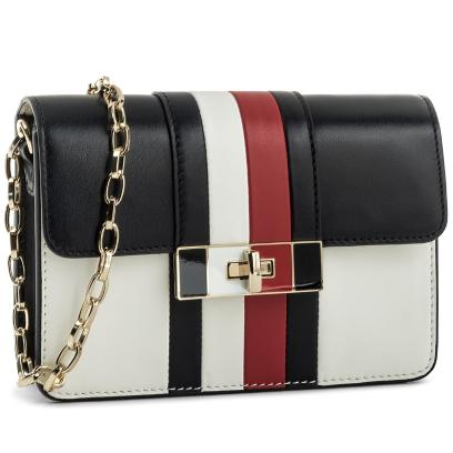 78d9941944300 Torebka TOMMY HILFIGER - Corporate Lock Leather Crossover AW0AW04475 901