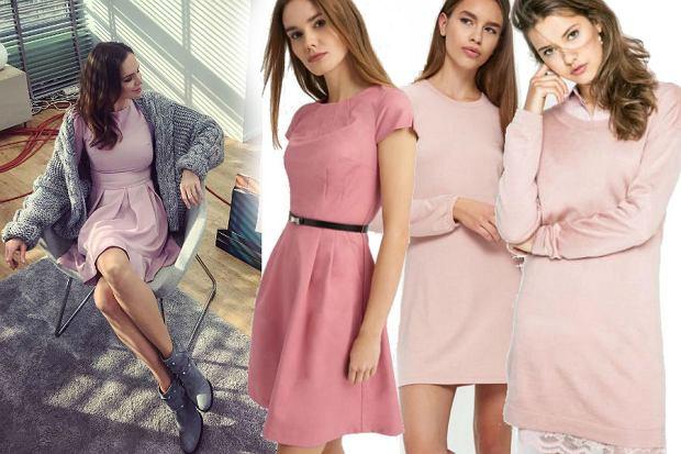 różowe sukienki idealne do pracy