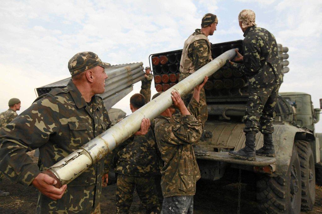 Ukraińscy żołnierze w okolicach Ługańska
