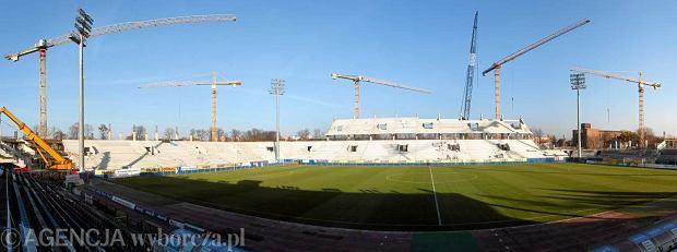 Na placu budowy nowego stadionu w Zabrzu - stan na połowę listopada 2012 roku