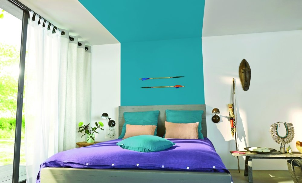 Sypialnia. Kolor Morska Głębina, Colours.