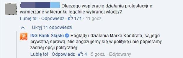 Internauci komentuj� udzia� Marka Kondrata w marszu KOD