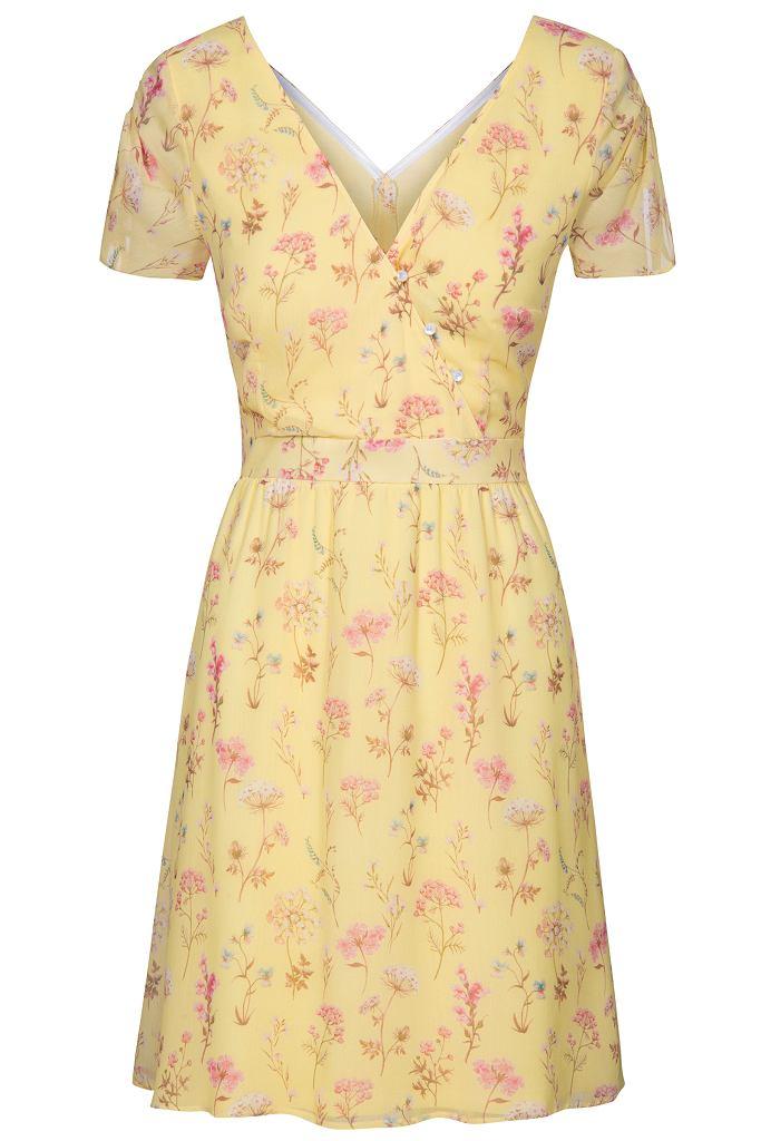 Żółta sukienka z Orsay za 120 zł zamiast 159,99 zł / mat.pras.