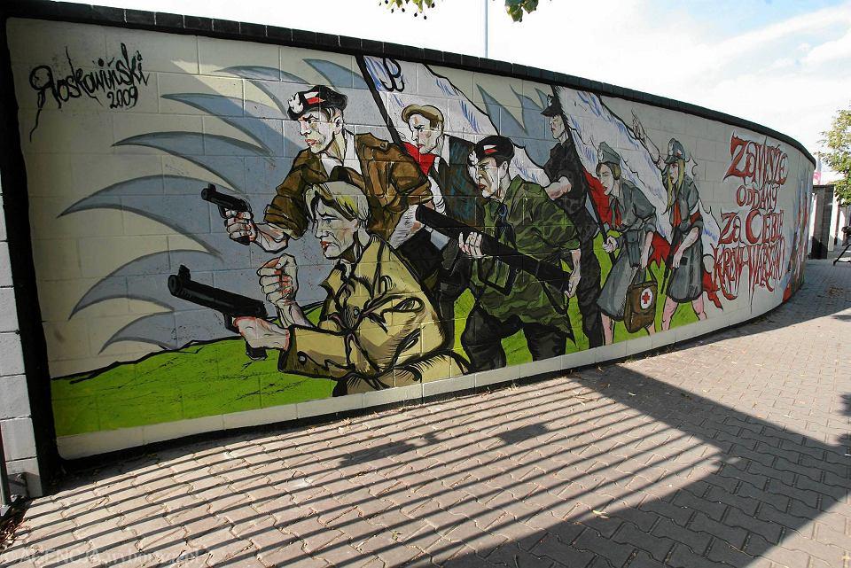 R dmie cie mural powsta c w warszawskich wr ci na for Mural ursynow