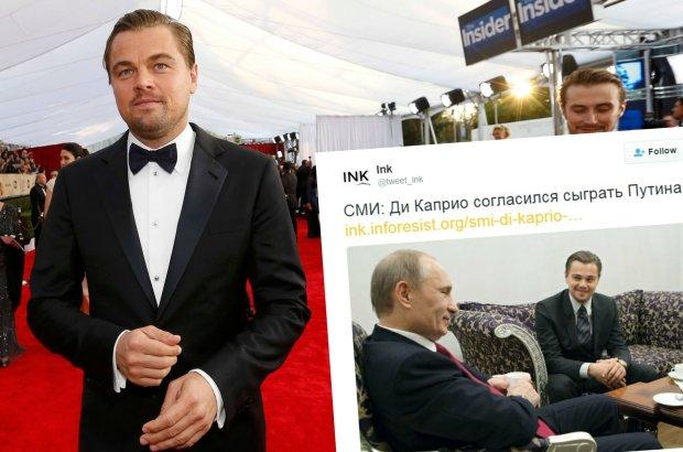 Leonardo DiCaprio na rozdaniu nagr�d SAG i z W�adimirem Putinem
