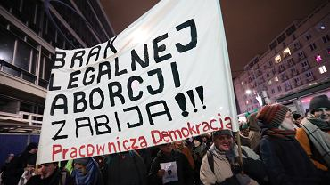 17.01.2018, Warszawa, Czarny Protest.