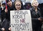 Katowice - uczestniczki Czarnego Protestu